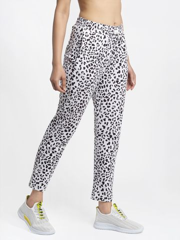 DOOR74 | DOOR74 WHITE PANTHER PRINT RELAXED FIT JOGGERS
