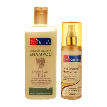 Dr Batra's | Dr Batra's Dandruff cleansing Shampoo 200 ml and Anti Dandruff Hair Serum 125 ml (Pack of 2 Men and Women)