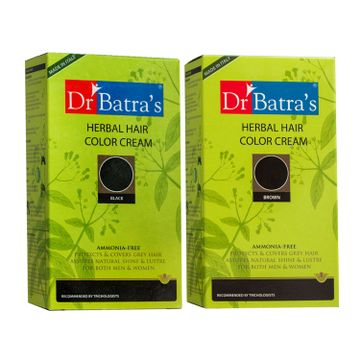 Dr Batra's | Dr Batra's Herbal Hair Color Cream and Herbal Hair Color Cream- Brown (Pack of 2 for Men and Women )