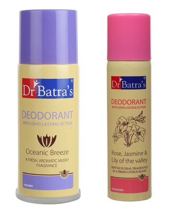 Dr Batra's | Dr Batra's Men's and Women's Combo Deodorant (150 ml)