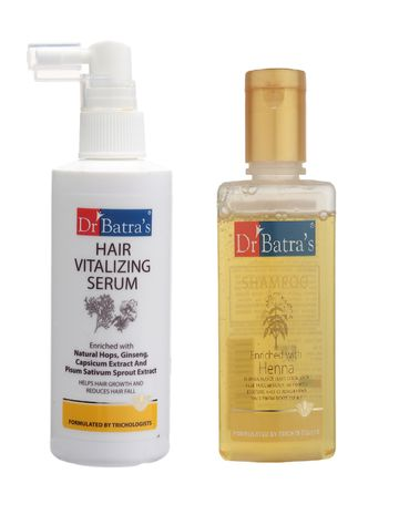 Dr Batra's | Dr Batra's Hair Vitalizing Serum and Henna Shampoo Combo (100)