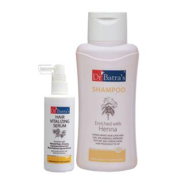 Dr Batra's | Dr Batra's Hair Vitalizing Serum 125 ml and Normal Shampoo - 500 ml