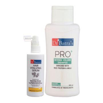 Dr Batra's | Dr Batra's Hair Vitalizing Serum 125 ml and Pro+ Intense Volume Shampoo - 500 ml