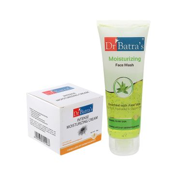 Dr Batra's | Dr Batra's Intense Moisturizing Cream -100 g and Face Wash Moisturizing - 100 gm (Pack of 2 For Men and Women)