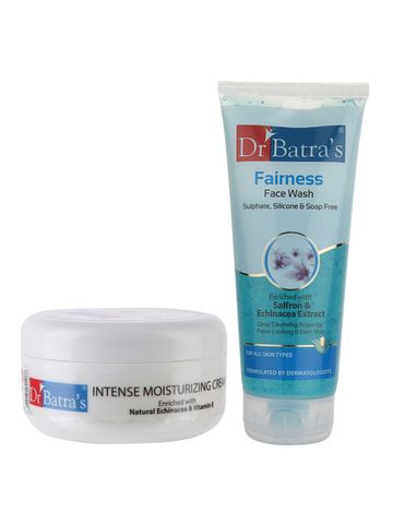 Dr Batra's | Dr Batra's Intense Moisturizing Cream -100 g and Fairness Face Wash 200 gm (Pack of 2 for Men and Women)