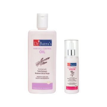 Dr Batra's | Dr Batra'sHair Fall Control Oil- 200ml and Hair Fall Control Serum-125ml (Pack of 2 for Men and Women)