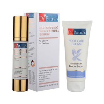 Dr Batra's | Dr Batra's Age defying Skin firming Serum - 50 g and Foot Care Cream - 100 gm (Pack of 2 Men and Women)