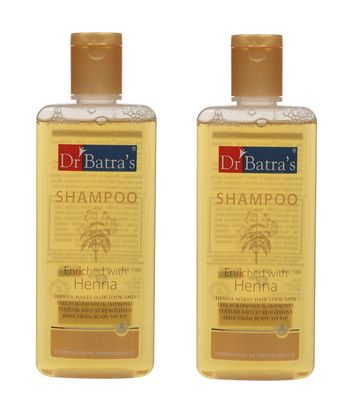 Dr Batra's | Dr Batra's Shampoo Enriched With Henna - 200 ml (Pack of 2)