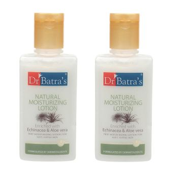 Dr Batra's | Dr Batra's Natural Moisturizing Lotion Enriched With Echinacea Aloe Vera - 100 ml (Pack of 2)