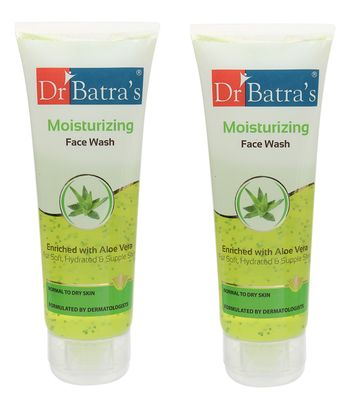 Dr Batra's | Dr Batra's Moisturizing Face Wash Enriched With Aloe Vera Soft, Hydrated & Supple Skin - 100 gm (Pack of 2)