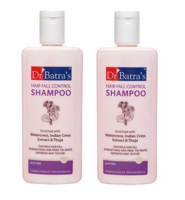 Dr Batra's | Dr Batra's Hair Fall Control Shampoo Enriched With Watercress, Indian Cress extract and Thuja - 200 ml (Pack of 2)