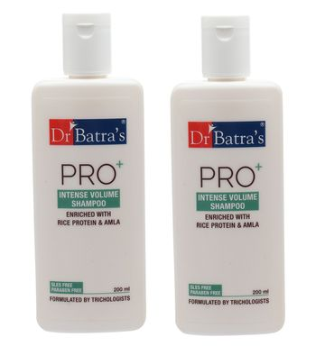 Dr Batra's | Dr Batra's Pro+ Intense Volume Shampoo Enriched With Rice protein & Amla - 200 ml (Pack of 2)