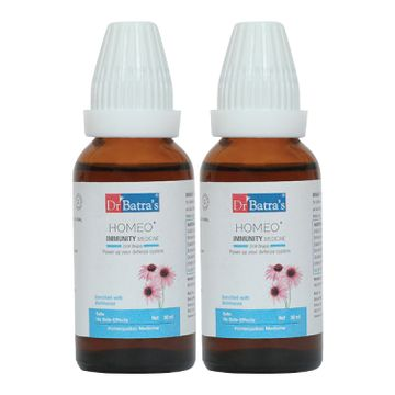 Dr Batra's | Dr Batra's Homeo+ Immunity Medicine Oral Drops|Scientific & Natural |Stay Home, Stay Safe - 30 ml (Pack of 2)