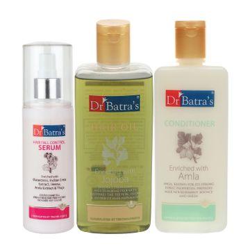 Dr Batra's | Dr Batra's Hair Fall Control Serum-125 ml, Conditioner - 200 ml and Hair Oil - 200 ml