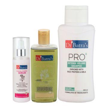 Dr Batra's   Dr Batra's Hair Fall Control Serum-125 ml, Pro+ Intense Volume Shampoo - 500 ml and Hair Oil - 200 ml