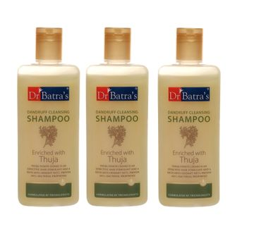 Dr Batra's | Dr Batra's Dandruff Cleansing Shampoo Enriched With Thuja - 200 ml (Pack of 3)