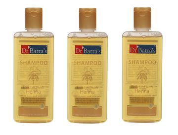 Dr Batra's | Dr Batra's Shampoo Enriched With Henna - 200 ml (Pack of 3)