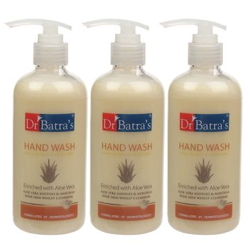 Dr Batra's | Dr Batra's Hand Wash|Aloe Vera|10x Better Protection Against Germs - 300 ml (Pack of 3)