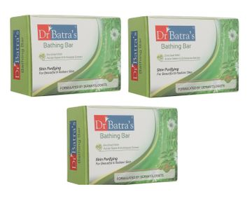 Dr Batra's | Dr Batra's Bathing Bar Skin Purifying For Beautiful & radiant Skin Enriched With Active Neem & Echinacea Extract - 125 gm (Pack of 3)