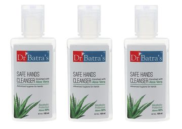 Dr Batra's | Dr Batra's Safe Hands Cleanser Enriched With Aloe vera - 100 ml (Pack of 3)