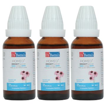 Dr Batra's | Dr Batra's Homeo+ Immunity Medicine Oral Drops|Scientific & Natural |Stay Home, Stay Safe - 30 ml (Family Pack of 3)
