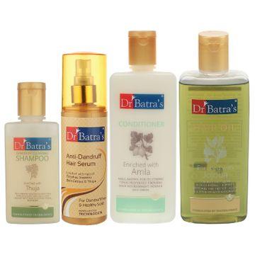 Dr Batra's | Dr Batra's Anti Dandruff Hair Serum, Conditioner - 200 ml, Hair Oil - 200 ml and Dandruff Cleansing Shampoo - 100 ml