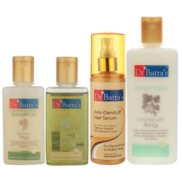 Dr Batra's | Dr Batra's Anti Dandruff Hair Serum, Conditioner - 200 ml, Hair Oil - 100 ml and Dandruff Cleansing Shampoo - 100 ml
