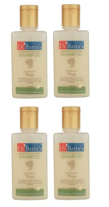 Dr Batra's | Dr Batra's Dandruff Cleansing Shampoo Enriched With Thuja - 100 ml (Pack of 4)