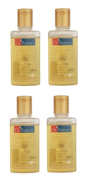 Dr Batra's | Dr Batra's Shampoo Enriched With Henna - 100 ml (Pack of 4)
