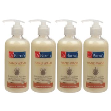 Dr Batra's | Dr Batra's Hand Wash|Aloe Vera|10x Better Protection Against Germs - 300 ml (Pack of 4)