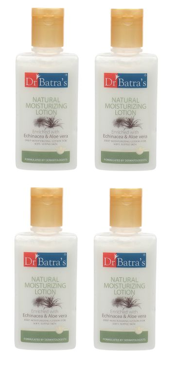 Dr Batra's | Dr Batra's Natural Moisturizing Lotion Enriched With Echinacea Aloe Vera - 100 ml (Pack of 4)