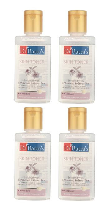 Dr Batra's | Dr Batra's Skin Toner Enriched With Echinacea & Green Tea - 100 ml (Pack of 4)