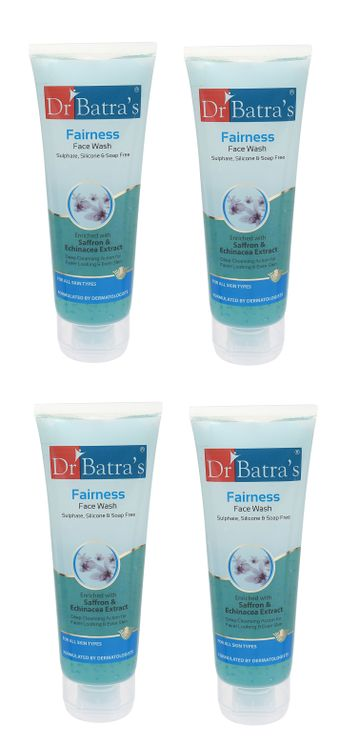 Dr Batra's | Dr Batra's Fairness Face Wash Enriched With Saffron & Echinicea Extract - 100 gm (Pack of 4)