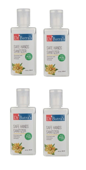 Dr Batra's | Dr Batra's Safe Hand sanitizer Enriched With Calendula Extracts - 100 ml (Pack of 4)