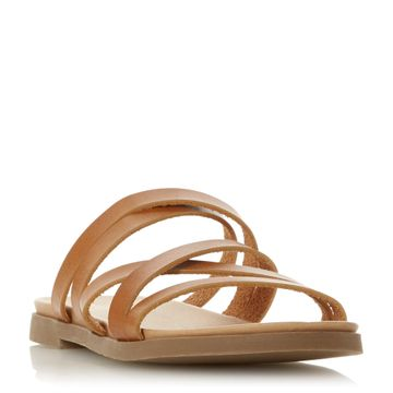 Dune London | Tan Flat Sandals