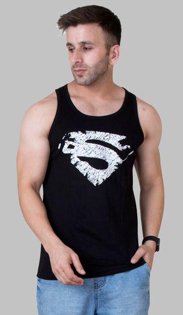 VEIRDO | Veirdo Black Printed Sleeveless T-shirt