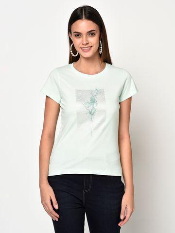 METTLE | Women PASTEL MINT T-Shirts