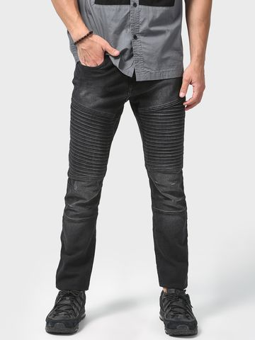 Blue Saint | Blue Saint Men's Black Skinny Fit Jeans