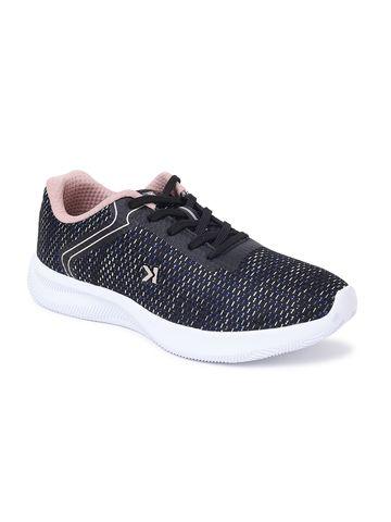 EEKEN | EEKEN Black/Peach Athleisure Lightweight Casual Shoes for Women (by Paragon)