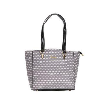 ESBEDA | ESBEDA Grey Color Logo Printed Handbag For Women
