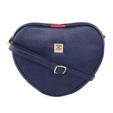 ESBEDA | ESBEDA Navy Blue Color Heart Shape Sling Bag For Women