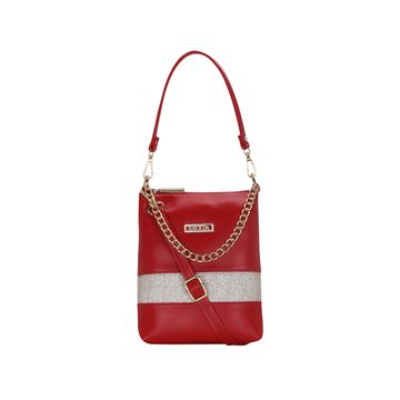 ESBEDA | ESBEDA Red Color Lace Glitter Slingbag For Women