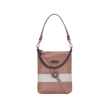ESBEDA | ESBEDA Peach Color Twill Slingbag  For Women