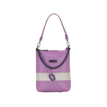 ESBEDA | ESBEDA Purple Color Lace Glitter Slingbag For Women