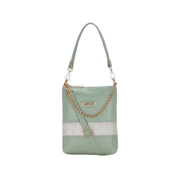 ESBEDA | ESBEDA Green Color Lace Glitter Slingbag For Women