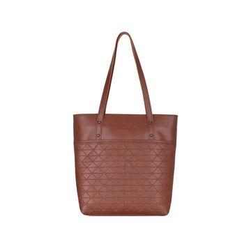 ESBEDA | ESBEDA Tan Color Vinyl Handbag With Sling Bag For Women