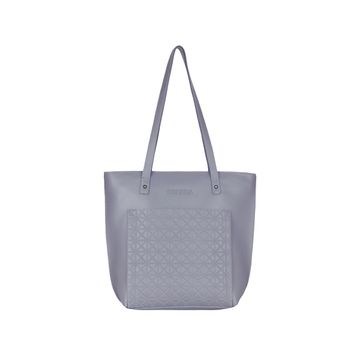 ESBEDA | ESBEDA Grey Color Vinyl Handbag With Sling Bag For Women