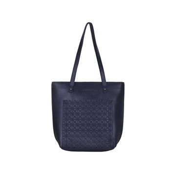 ESBEDA | ESBEDA Blue Color Vinyl Handbag With Sling Bag For Women