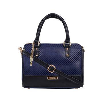 ESBEDA   ESBEDA Navy Blue Color Twill Hand Bag For Women