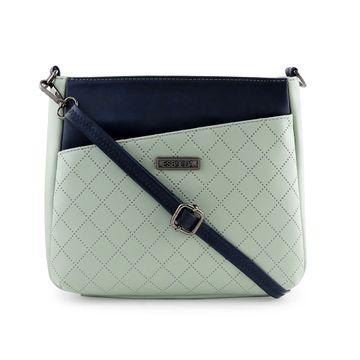 ESBEDA   ESBEDA Pista Green Color Tiny Dot Texture Sling Bag For Women